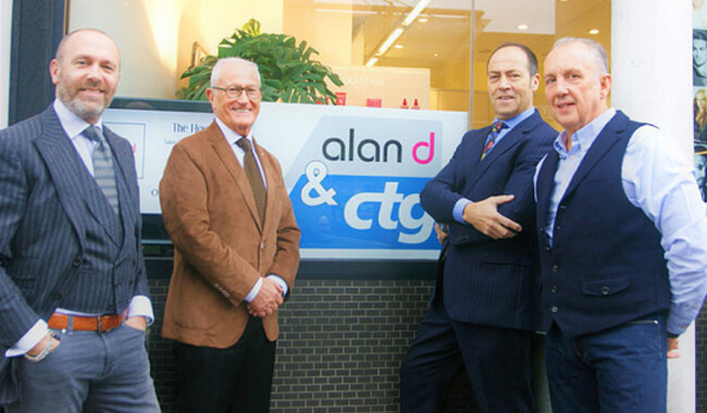 Edward & Alan Hemmings next to CTG's Martin Kolton MBE & Andrew Wright.