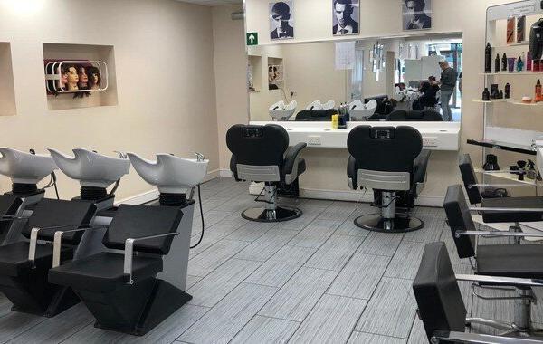 Alan d hair salon interior.